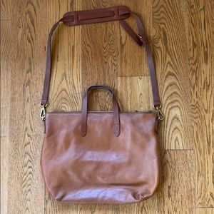 Madewell leather bag handles and shoulder strap